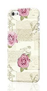 SUUER Shabby Chic Teal Rose Birds Floral Calligraphy Vintage Feature iPhone 4 4S Case , Designer Personalized Custom Plastic Hard CASE for iPhone 4 4S Durable New Style ROUGH Skin 3D Case Cover
