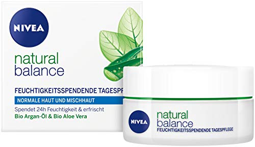 Genuine Authentic German Nivea Natural Balance Moisturizing Day Cream for Normal and Combination Skin- 1.69fl. oz/50ml (Nivea Pure And Natural Day Cream Ingredients)
