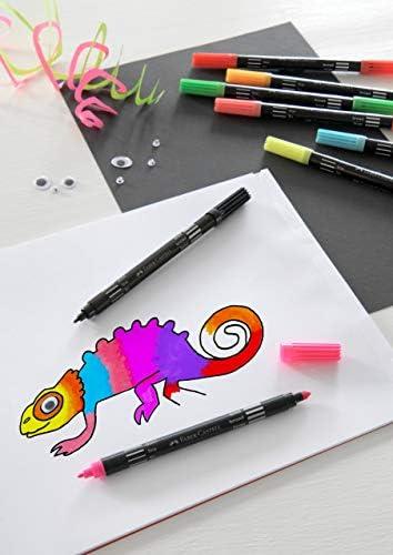 Faber Castell 155310 Feutres Grip Colour marqueur Fluo et pastel dans un /étui de 10 10er Etui Neon /& Pastell