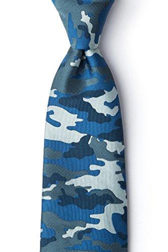 Camouflage Woodland Navy Blue Microfiber -