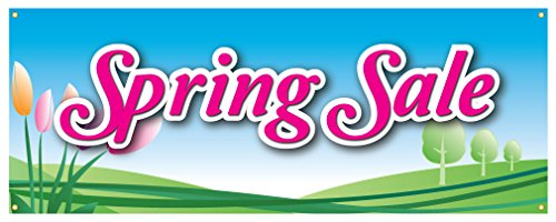 Spring Sale Banner Huge Discounts Retail Store Sign - Spring Stores