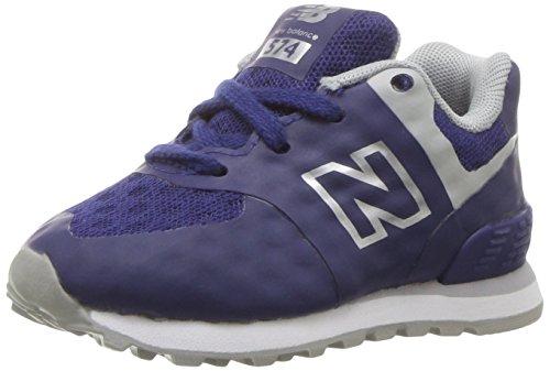 outlet store fce25 f0d56 New Balance 574 High Visibility, Baskets Basses Mixte Enfant bleu gris