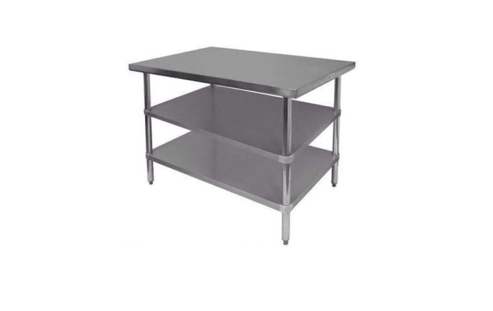 Stainless Steel Prep Work Table 30 x 48 with 2 undershelves NSF - Heavy Duty by IYQ (Image #1)