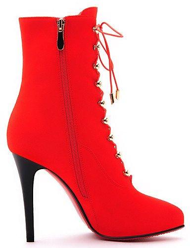 Casual Black 5 Eu38 Event Black Cn38 XZZ Evening Stiletto us7 Vestito Stivaletti donna Heels Stivali da moda Uk5 Scarpe 5 Red Heel alla xCIq0