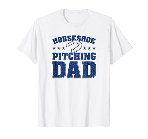 Mens Horseshoe Throwing Shirt - Horseshoe Pitching Dad Apparel from Horseshoe Pitching Shirts and Gifts