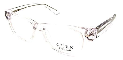b3631605f5c Amazon.com  Geek Eyewear Rad09 Eyeglasses Crystal Clear  Health   Personal  Care