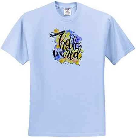 Flowers Text Pastel Colors Positive Text Enjoy Life T-Shirts 3dRose Alexis Design Each Letter Made of Flowers