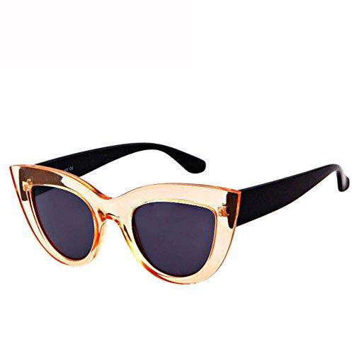 Ojos Gafas De De Los De Deportes Marco Ciclismo GUOHONGCX Protector Sol Gafas Sol Mirada De Gafas Sol G Ojo Cuidado De Océano Colorido Tendencia De Gato Ocasional Irregular Metal B AF8HRq