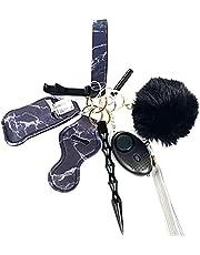 Persoonlijke alarmen voor vrouwen - 9 Pcs persoonlijke veiligheid sleutelhanger, Hand Sanitizer zakje, fluitje voor vrouwen gevaarlijke Self-Help accessoires (sleutelhanger Set)