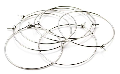 Cousin DIY 30mm Stainless Steel Earring Hoop - 22pc