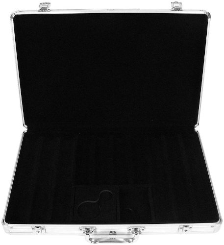 Aluminum Poker Chip Case Holds - Trademark 650 Capacity Chip Case - Executive Aluminum Hard Side (Silver)