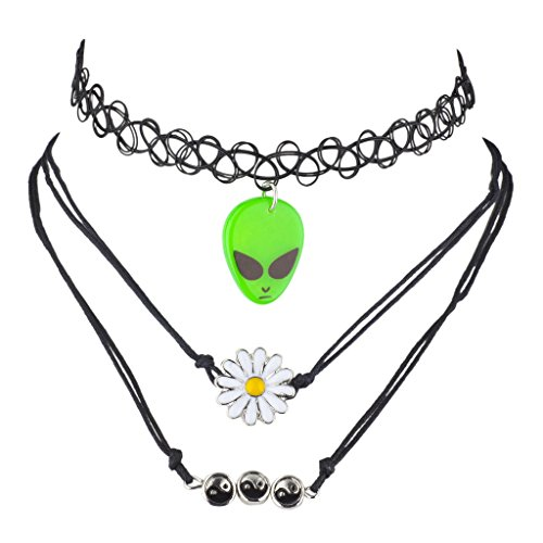 lux-accessories-black-alien-hippie-daisy-ying-yang-novelty-choker-set-3pcs