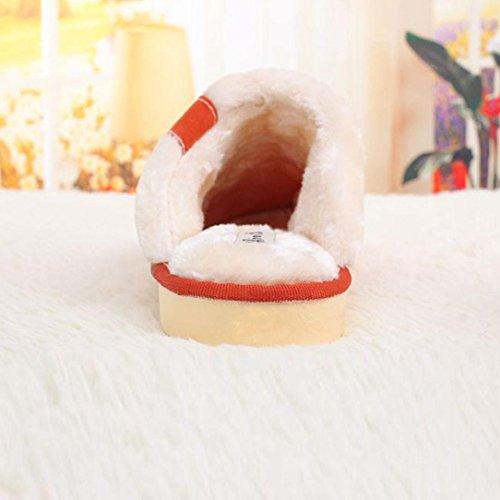 Amiley Heren Pluche Indoor Vloer Knop Decor Zachte Slijtage Pantoffel Vrijetijdsschoenen Brons