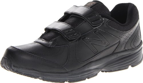 New Balance Women's WW411H Health Walking Shoe,Black,7 B US
