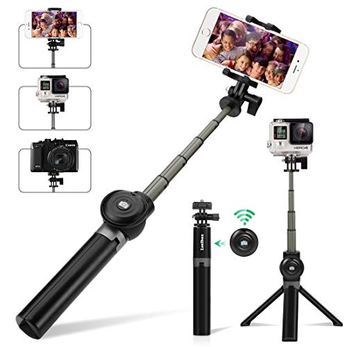 Selfie Stick Tripod, Leelbox Bluetooth Selfie Stick with Tripod and Detachable Wireless Remote, Extendable Monopod Stand Holder Universal for Digital Camera and Android iOS Mobile Smart Phone by Leelbox (Image #9)