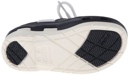 crocs Beach Line Lace PS Boat Shoe (Toddler/Little Kid),Navy/White,10 M US Toddler by Crocs (Image #3)