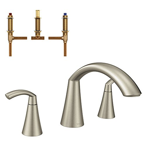 Moen KRTGL-D-T373BN Glyde Roman Tub Faucet Kit with Rough, Brushed - Rough Moen Tub Roman