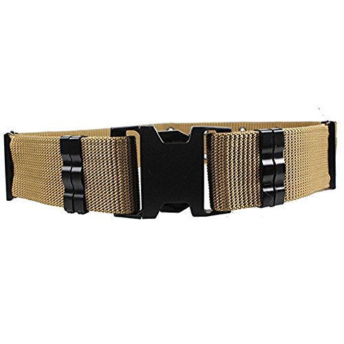Tactical Web Belt, INDEPMAN Wide Design Utility Belt with Holes and Quick Release Buckle for Men and Women Heavy Duty Waist Belt (khaki)