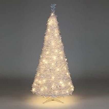 Pre Lit Pop Up Christmas Tree Uk.6ft Pre Lit White Holly Pop Up Christmas Tree With 200 Warm