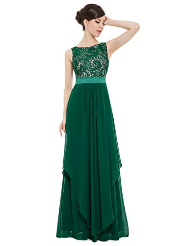 Ever-Pretty Juniors Sleeveless Floor Length Formal Lace Prom Gown 6 US (Sleeveless Formal Gown)