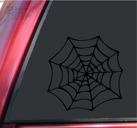 Spider Vinyl - ShadowMajik Spider Web Vinyl Decal Sticker (4