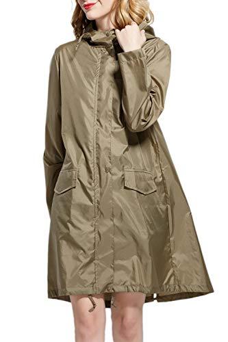 Abrigo Libre Olivia Yacun La Lluvia Mujer Impermeable Con Poncho Capucha Aire Gabardina De Al vAqrCwvS