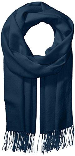 La Fiorentina Women's Soft Twill Cashmere Scarf, Navy, One Size by La Fiorentina