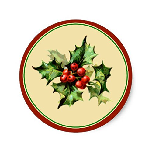 stmas Stickers Round Envelope Sticker Label Seals Christmas Gift Tag Stickers Set of 20 ()