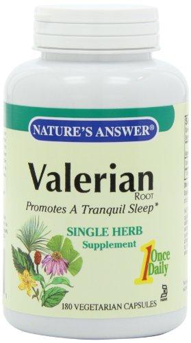 La réponse de la Nature racine de valériane Vegetarian Capsules, 180-comte