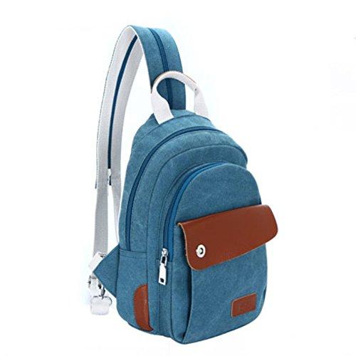 La Sra mochila de ocio/bandolera pequeña/bolsa de lona/La pechera/paquete multifuncional/Paquete diagonal del hombro-E B