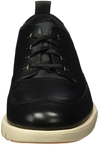 Zapatos Cordones Mujer Derby Leather Nia para Clarks Tri Black Negro de nH0ExXIq