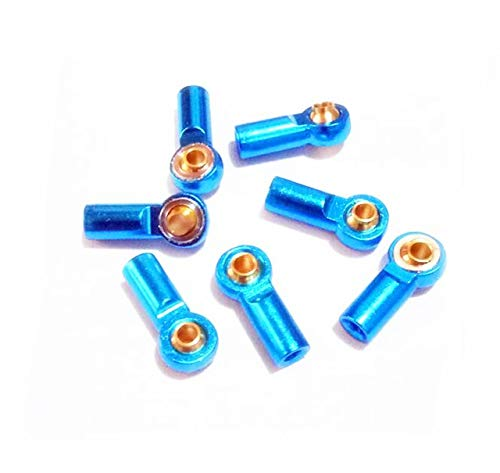 Part & Accessories 20PCS M3 Metal Universal Ball Ends 3mm Rod Ball Joints Aluminum alloy Connectors Spare Parts For DIY RC Car/Airplane Model - (Color: Blue)