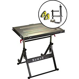 Strong Hand Tools Nomad Welding Table with MagSpring Clamp and Mini Magnet Twin Pack, Model# TS3020FK