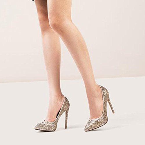 uk3 Fine Femmes Cjc couleur Hauts Mariage Or À Strass toe Or Eu36 Taille Chaussures 5 Talons wAAXYBR6q