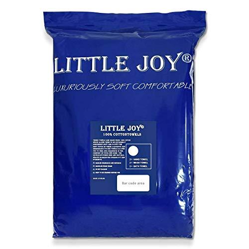 LITTLE JOY Bath Towels Set Extra Large 100% Cotton Shower Towels Highly Absorbent Super Soft Bathroom Towels Sets (White, Set of 6)