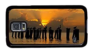 Hipster Samsung Galaxy S5 Cases awesome pelicans in sunset PC Black for Samsung S5