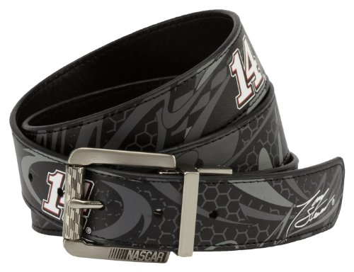 (NASCAR Stewart Haas Racing Fast Lane Reversible Belt, Black)