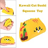 Sagton Kawaii Cat Sushi Stress Toys for Kids Adult Anxiety Slow Rising Squishies Scented Gift