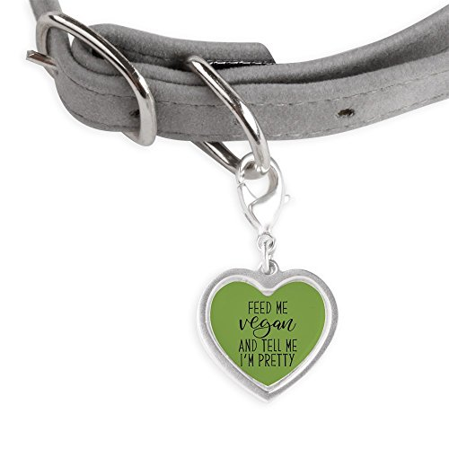 CafePress Feed Me Vegan - Small Heart Pet Tag by CafePress