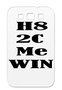 Tear-resistant Black Victory Nerd Geek TPU Case For Sumsang Galaxy S3