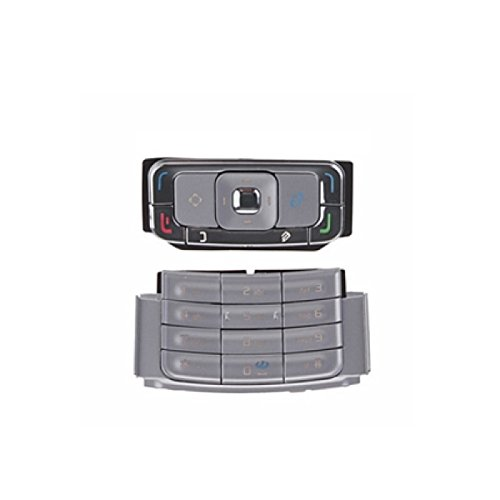 Bislinks® New Replacement For Nokia N95 Full Set Keypad Buttons Keyboard Silver UK Seller (Silver Nokia Keypad)