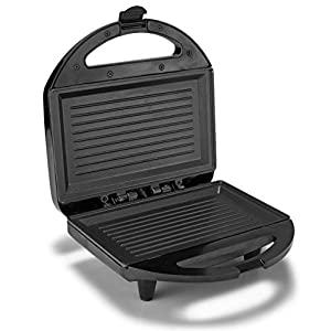 Lifelong Sandwich Griller , 750 W with 4 Slice Non-Stick Fixed Plates (Black)