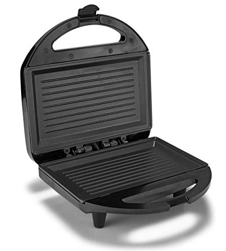 Lifelong Sandwich Griller , 750 W with 4 Slice Non-Stick Fixed Plates (Black) 2021 July Non Stick Sandwich Maker with Fixed Plates Cool Touch Handle I Anti Skid Feet Voltage: 230V; Wattage: 750W; Capacity 2 Slices