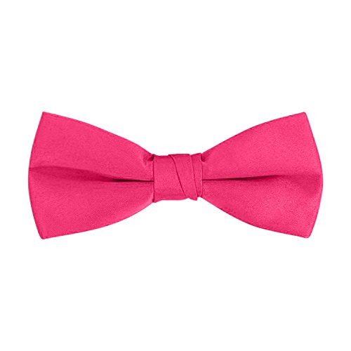 Men's Classic Pre-Tied Formal Tuxedo Bow Tie - Hot Pink, By S.H Churchill (Pink Bowties)