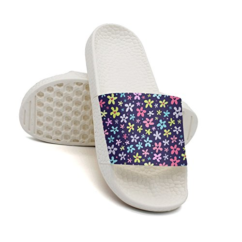 qiopw rtw Bathroom Shower Non-Slip Sandal Floral Floral Floral Little Bright Flowers Image Indoor Slipper Shoes for Women B07DLJ5JX7 Shoes 3a65d6