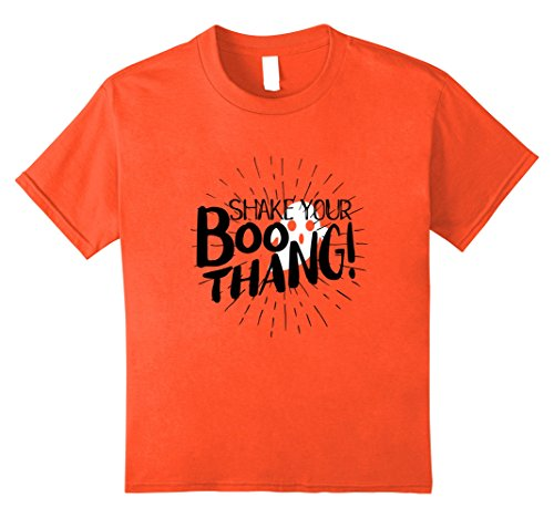 [Kids Happy Halloween Shake Your Boo Thing Thang Ghost T-Shirt 10 Orange] (Kids Homemade Superhero Costume Ideas)