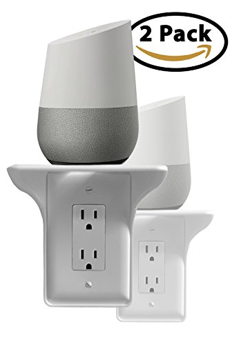 Power Perch - 2pack (white) - The Ultimate Outlet Shelf For Your Home - No Additional Hardware Required with Damage Free Installation - As Seen On The Today Show by STORAGE THEORY