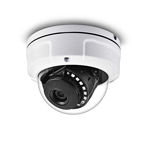 Real HD 1080P Dome HD Analog Outdoor Star Light Low Lux Security Camera (Quadbrid 4-in1 HD-CVI/TVI/AHD/Analog), 2MP 1920x1080, 65ft Night Vision, Metal Housing, 3.6mm Wide Viewing Angle, White (Best Low Light Cctv Camera)