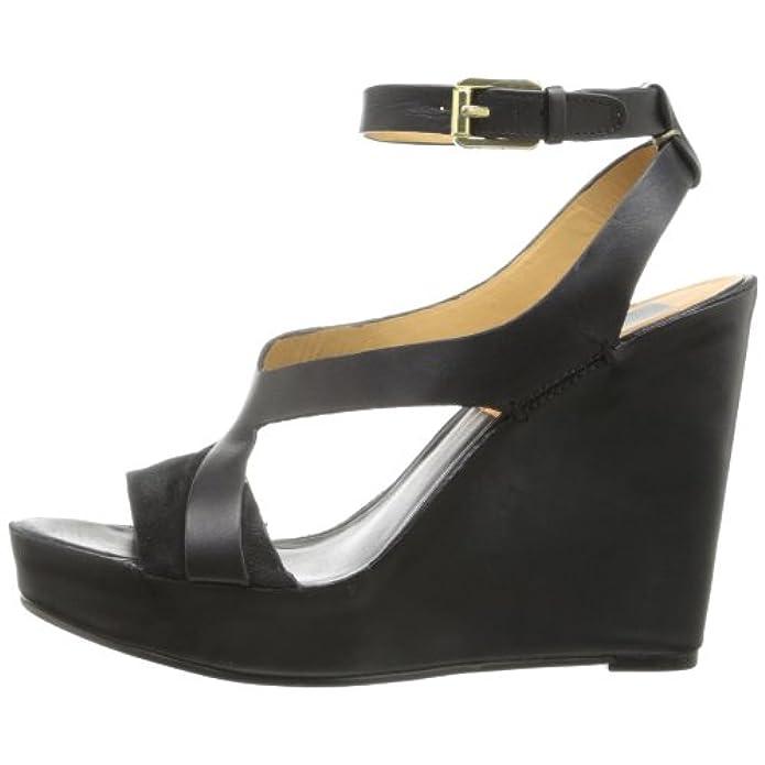 Dolce Vita Berit Donna Us 9 5 Nero Sandalo Con La Zeppa Eu 40