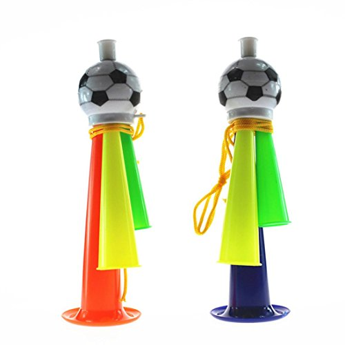 Baomabao for World Cup Soccer Trophy Cheering Glowing Whistle Color Speaker Game Cheer Football Horn Hooter Trumpet Instruments Music Toys (B) -